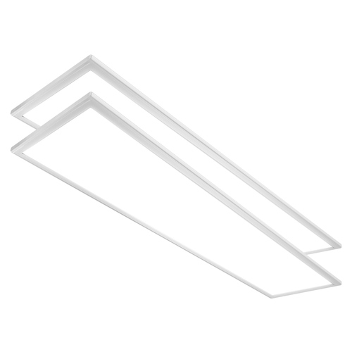 Case of 2 - 1ft x 4ft Flat Panel - 40W - Euri Lighting