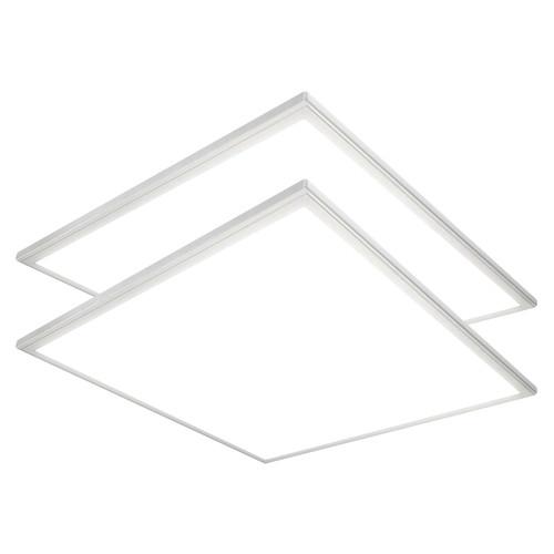 Case of 2 - 2ft x 2ft LED Flat Panel - 32W - 3400 Lumens