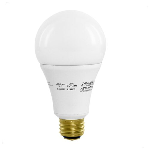 A21 - 3-Way LED Bulb - 17 Watt - 100W Equiv - Dimmable - 1600 Lumens - Euri