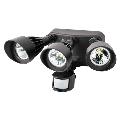 Triple-Head LED 36 Watt Bronze Security Light Motion-Activated 3090 Lumens by Morris