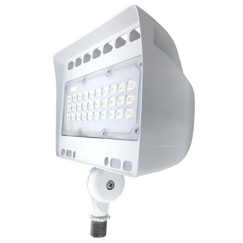 LED Floodlight 50 Watts Knuckle Mount 6103 Lumens by Morris - White