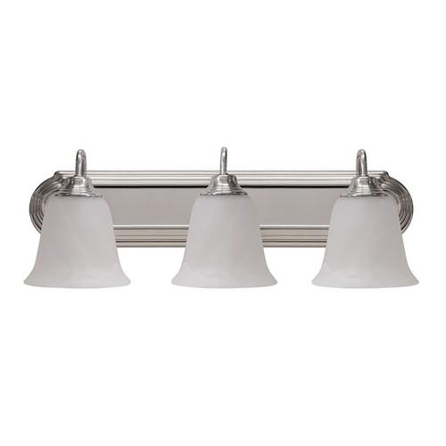 "LED 3 Light 24"" Vanity Fixture - Silver - Euri Lighting"