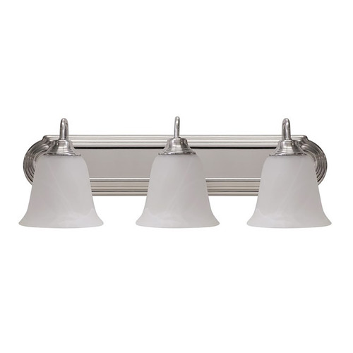 "LED 3 Light 24"" Vanity Fixture - Silver - Euri Lighting"