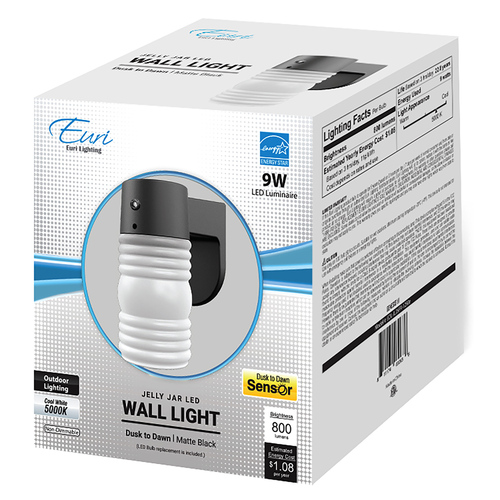 LED 9W Jelly Jar Light - Photocell Included - Euri Lighting