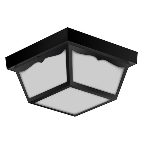 "LED 16W 10"" Outdoor Ceiling Light - Black - Euri Lighting"