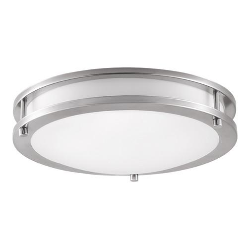 """LED Double Ring 12"""" Ceiling Light - Brush Nickel - Euri"""