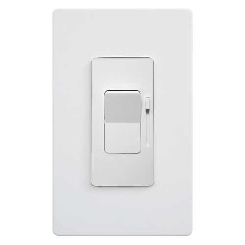 150W - White CFL/LED Dimmer 3-Way - Mini Paddle and Slider Switch - Enerlites