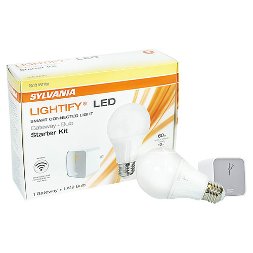 Zigbee Starter Kit - Includes 1 A19 Bulb + Lightify Gateway - By Sylvania