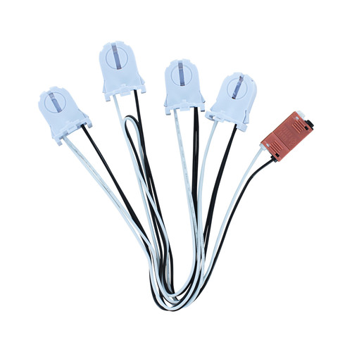 4-Lamp Wiring Harness for LED T8 Tubes Tall Socket by Keystone