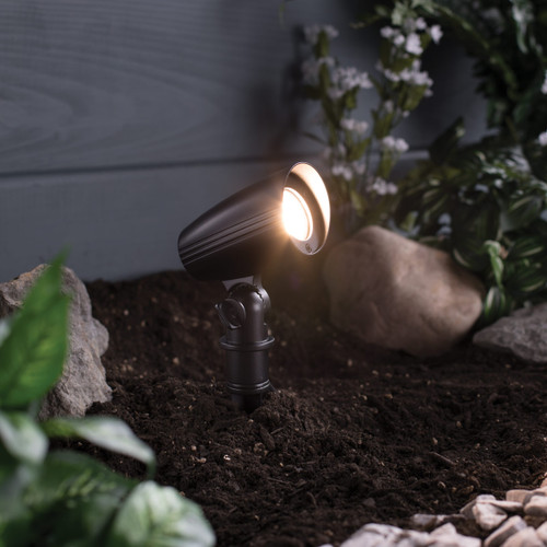 LED Low Voltage Pathway Spotlight - Textured Oil-Rubbed Bronze - 1 Pack - 4.5 Watt - 400 Lumens - 3000K - Duracell