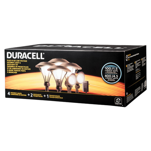 LED 6 Pack Landscape Lighting Kit -  Duracell