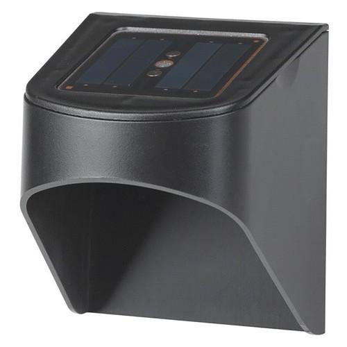 LED Solar Deck Lights - Black  Finish - 2 Pack - 5 Lumens - 4600-5600K - Duracell
