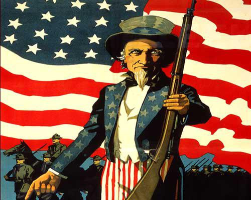 Uncle Sam with an American Flag Wallpaper 1280x1024