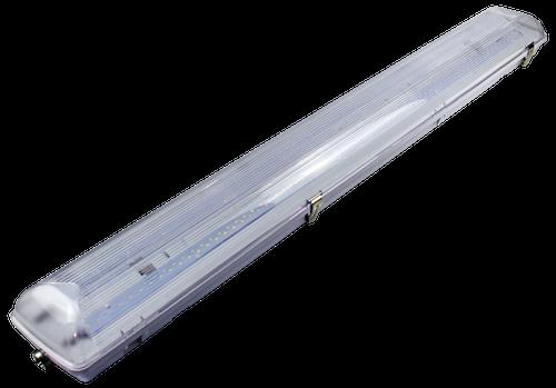 4ft Vapor Tight LED Fixture 50W - 7500 Lumens - DLC Premium IP65 - Clear Lens
