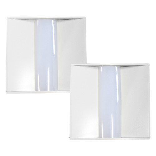 Case of 2 - 2x2ft LED Troffer - 40W - Dimmable