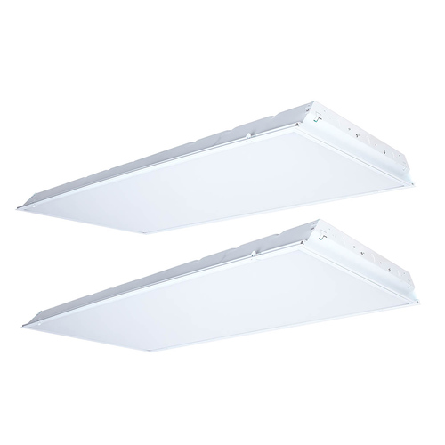 Case of 2 LED 2x4' Recessed Troffer - 52W - 5200 Lumens - Dimmable - GlobaLux