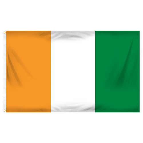 Cote DIvoire Flag 3ft x 5ft Printed Polyester