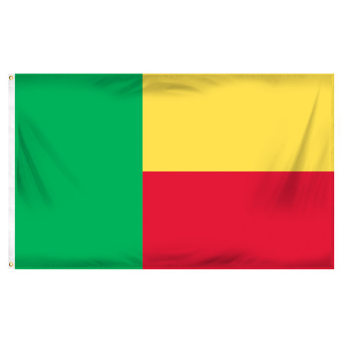 Benin Flag 3ft x 5ft Printed Polyester