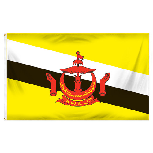 Brunei Flag 3ft x 5ft Printed Polyester