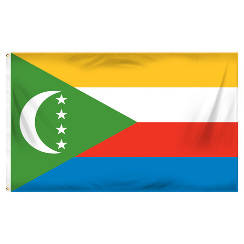 Comoros Flag 3ft x 5ft Printed Polyester