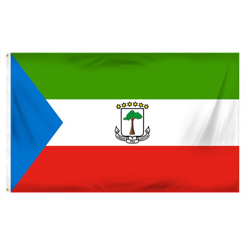 Equatorial Guinea Flag 3ft x 5ft Printed Polyester
