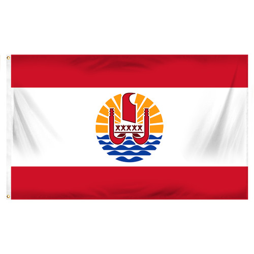 French Polynesia Flag 3ft x 5ft Printed Polyester