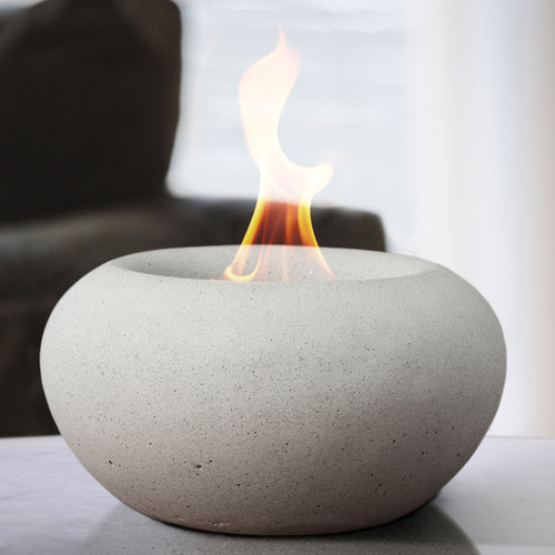 Stone Fire Bowl - White
