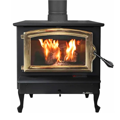 Wood Stove with Gold Door - Model 74