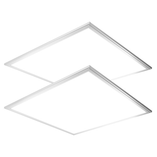 Case of 2 - 2ft x 2ft - Flat Panel - 36W - 4000 Lumens