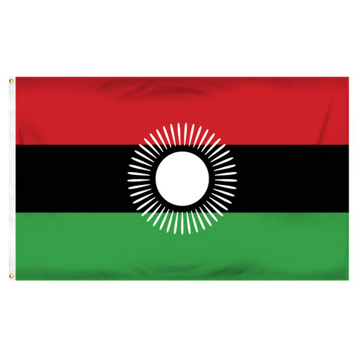 Malawi Flag 3ft x 5ft Printed Polyester