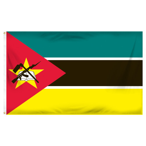 Mozambique Flag 3ft x 5ft Printed Polyester