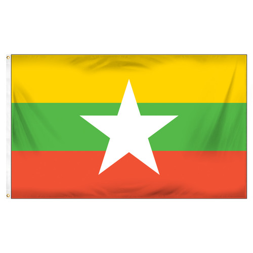 Myanmar Flag 3ft x 5ft Printed Polyester