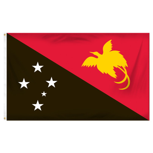 Papua New Guinea Flag 3ft x 5ft Printed Polyester