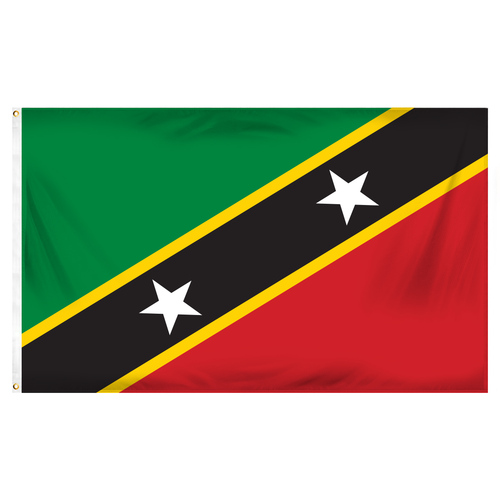 St Kitts-Nevis Flag 3ft x 5ft Printed Polyester