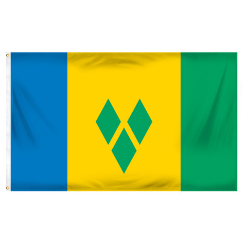 St. Vincent & The Grenadines Flag 3ft x 5ft Printed Polyester