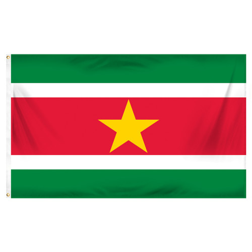 Suriname Flag 3ft x 5ft Printed Polyester