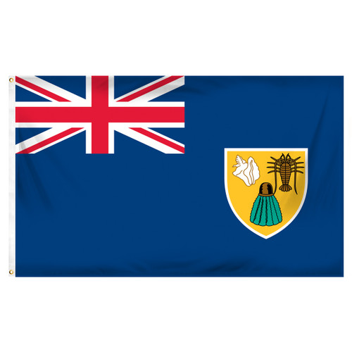 Turks & Caicos Flag 3ft x 5ft Printed Polyester