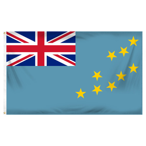 Tuvalu Flag 3ft x 5ft Printed Polyester