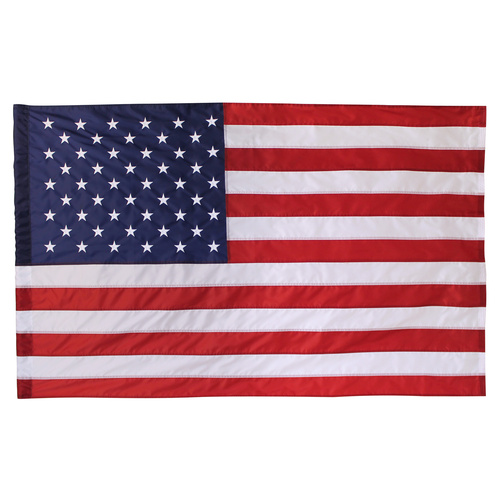 USA 2.5ft x 4ft Nylon Flag with Pole Hem Only -Banner