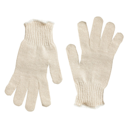 Memphis Natural Cotton Poly String Knit Gloves - Pack of 12 Pairs