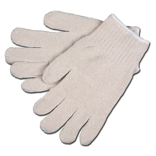 Memphis Natural CottonPoly StringKnit Gloves-Heavyweight, 12 Pairs