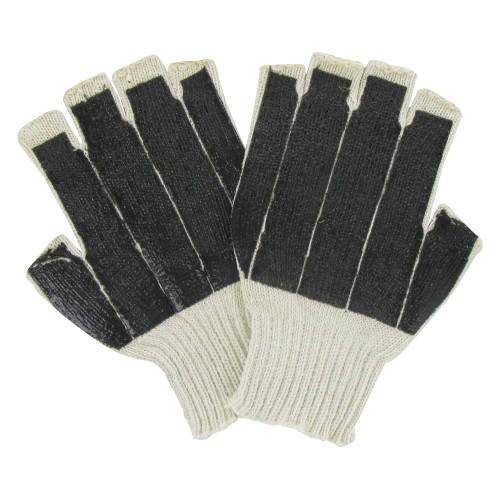 Red Hare Palm Coated Fingerless Work Gloves - Pack of 12 Pairs