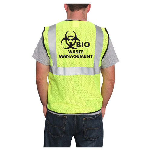 Customized Rugged Blue Class 2 Economy Mesh Safety Vest