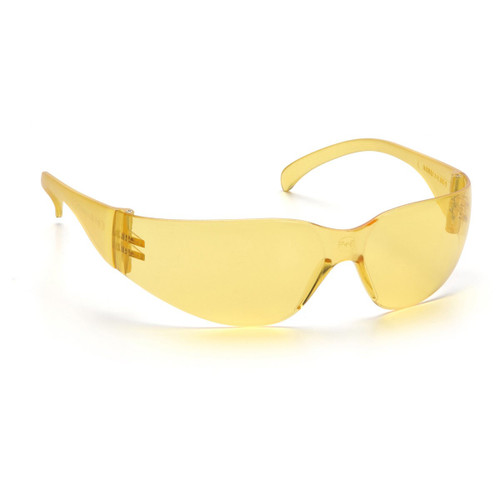 Rugged Blue Diablo Safety Glasses Amber/Yellow - Case of 12