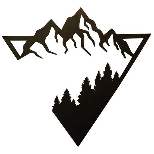 "22"" Decorative Metal Art - Triangle Forest"