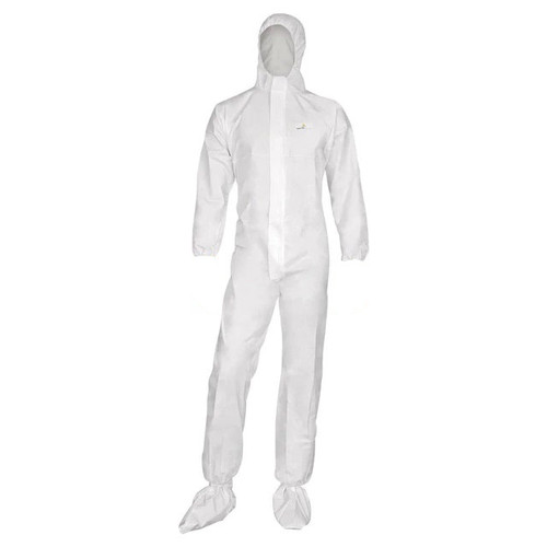 Disposable Hooded and Booted Microporous Breathable Coverall: MPCOV-400 in M, L, XL, XXL