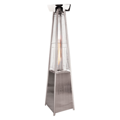 Woodeze Pyramid Quartz Glass Tube Patio Heater, 7' tall, Propane, 44,000 BTU - Steel