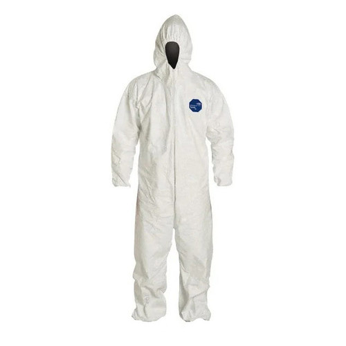 Tyvek Front Zip Hooded Coveralls - TY127SWH - Sizes M, L