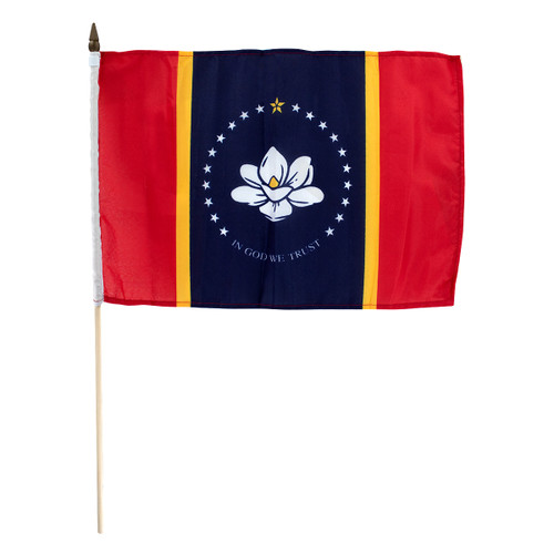 New Mississippi flag 12 x 18 inch