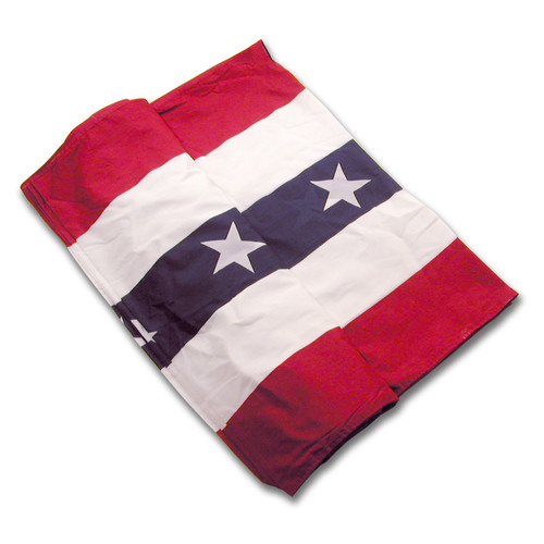 """Polyester Flag Bunting  Super Tough  5 Stripe With Stars - 18"""" Wide"""